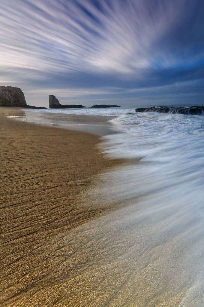 Sand and Sea by diversionphotography - Cloud Painting Photo Contest
