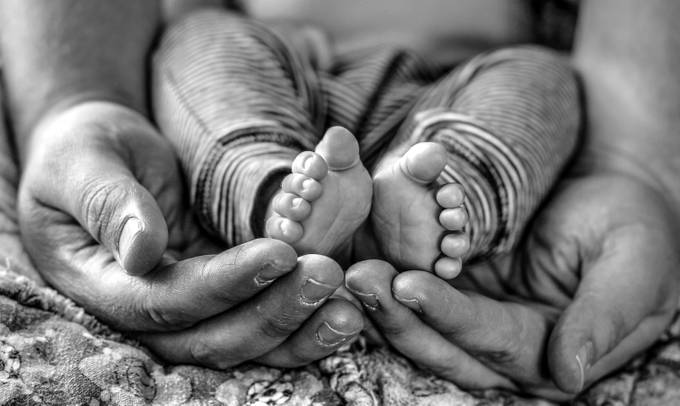 father and son by thwold - Babies In Black And White Photo Contest