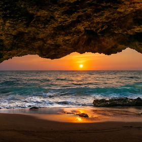 Cabo Rojo, Puerto Rico A very small cave maybe 5'X12' some of the waves would make it inside the cave, it was also hot and humid, I could not sto...