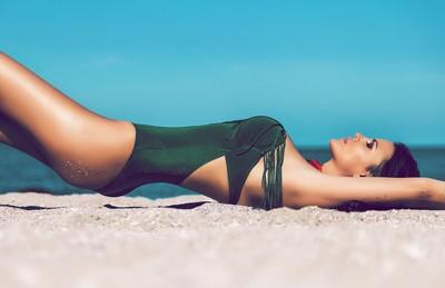 Natalia on the beach