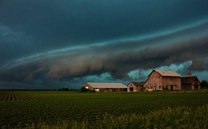 Shelf Cloud Over Sugar Grove by jodimair - Farming Photo Contest