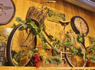 Bike With Grapes