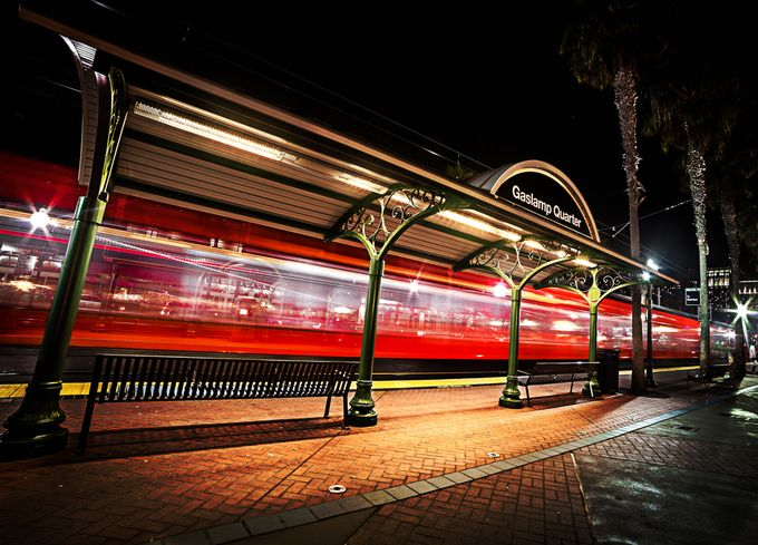gaslamp quarter train by aaronmmoshier - Metro Stations Photo Contest