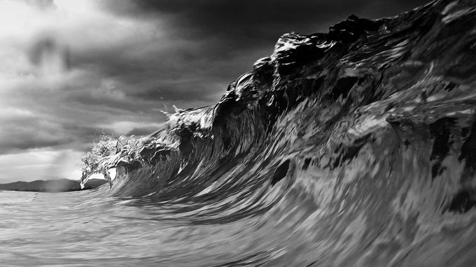 wave wall by abijur - Depth In Black And White Photo Contest