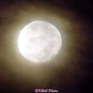 haze covered moon