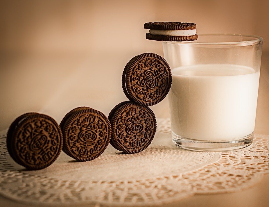 Ever wonder what cookies and milk do when you step out of the room???