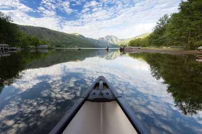 Canoeing through the clouds