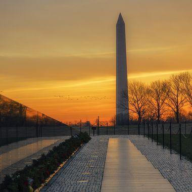 Monumental sunrise