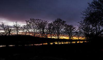 Colorful Sunset & Reflection
