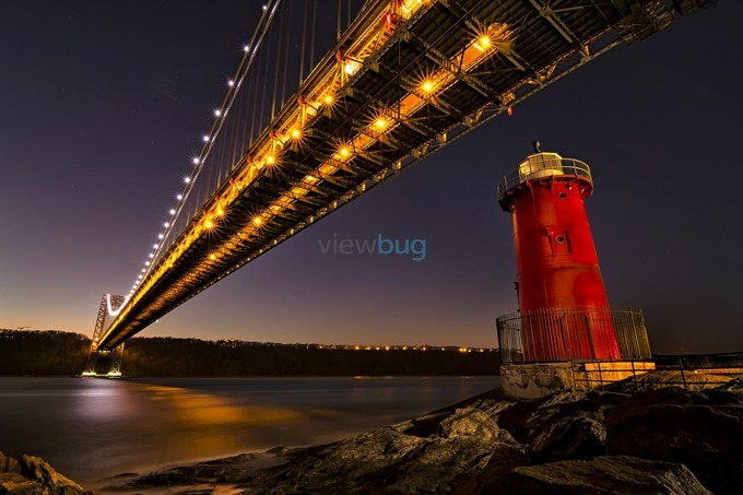 Little Red Lighthouse by EduardMoldoveanu - Under The Bridge Photo Contest