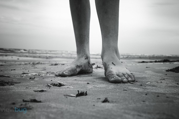 Beach Feet by AmberDopita - Depth In Black And White Photo Contest