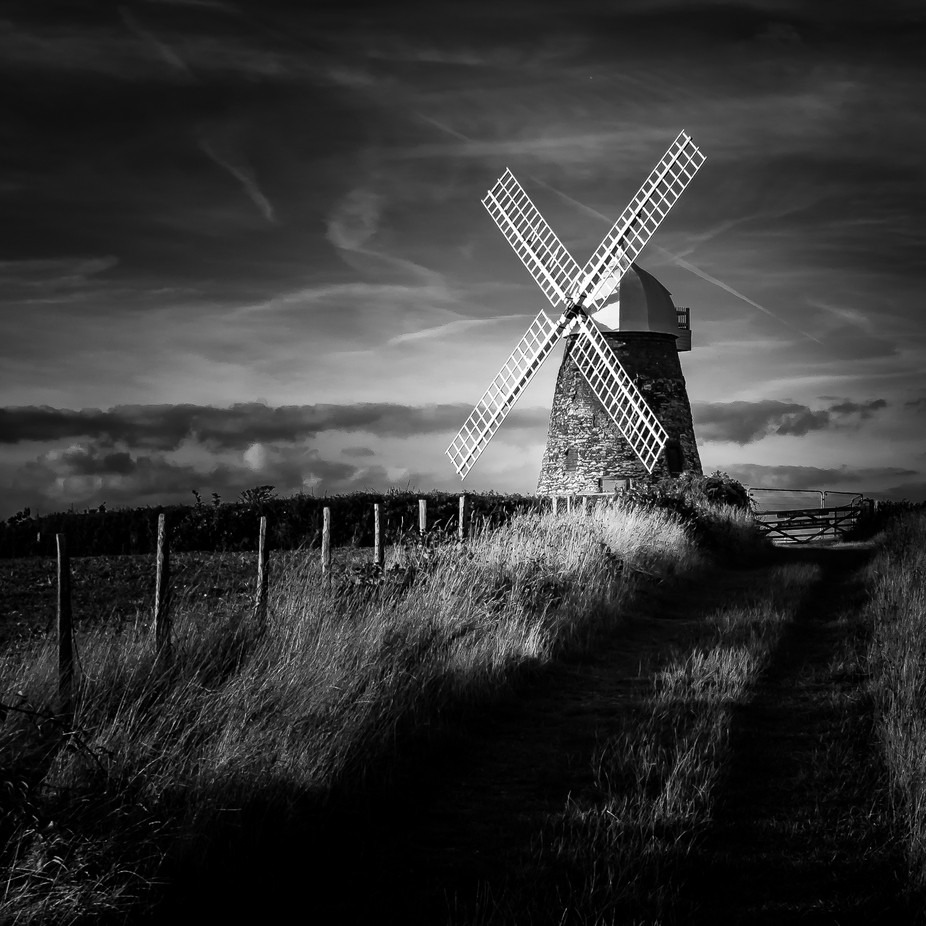 Halnaker Windmill by adifloyde - Awesomeness In Black And White Photo Contest