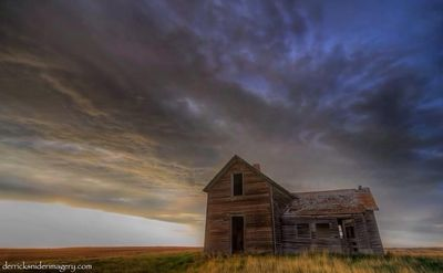 Abandoned ND Farm Uner Brooding Skies