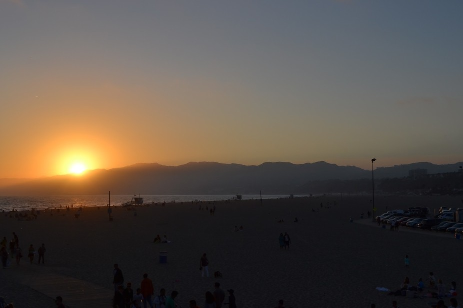 A warming, west coast sunset to end a wonderful summer day in California.