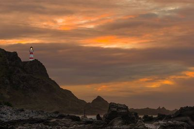 Cape Palliser Lighthouse sunset