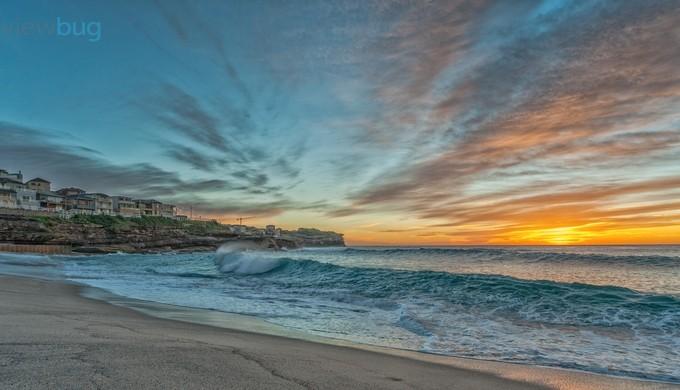 Bronte Sunrise by geoffclark - A World Of Blue Photo Contest