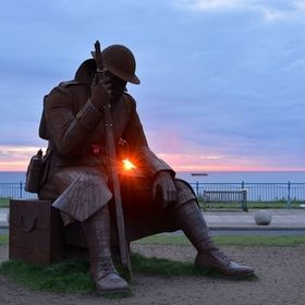 "Eleven 'O' One who the locals call ""Tommy"" at Seaham,  co Durham. The local man decided to make ""Tommy"" from Steel ..."
