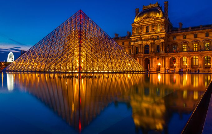 Pyramide - Paris by prashanwilfred - Light On Water Photo Contest