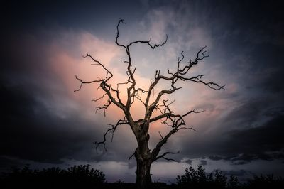 Late evening cloud display