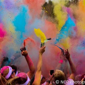 Colour Run at the NEC in Birmingham