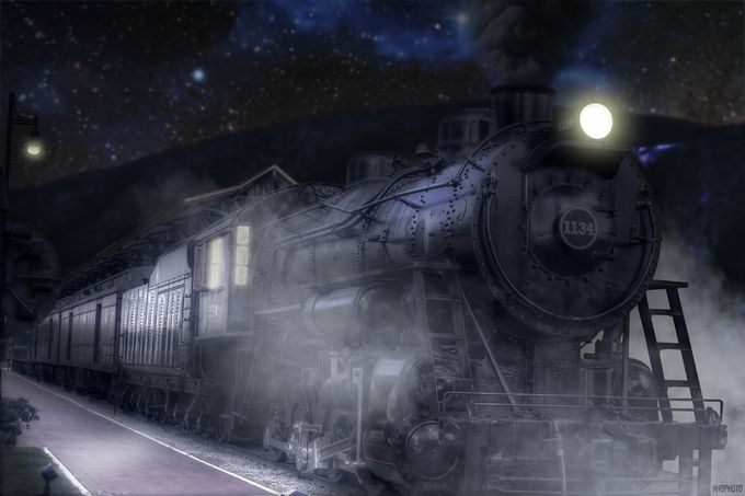 Midnight Train by nhdphoto - Post Editing Magic Photo Contest