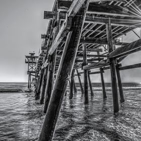 This is an HDR shot of the San Clemente pier.