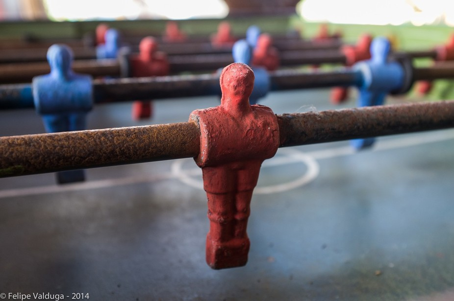 Old and rusty Foosball table.  © 2014, Felipe Valduga All rights Reserved