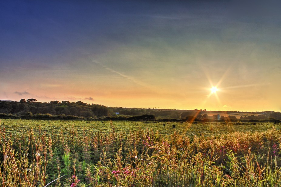 HDR Sunset in Cornwall, UK