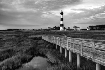Bodie Lighthouse B&W