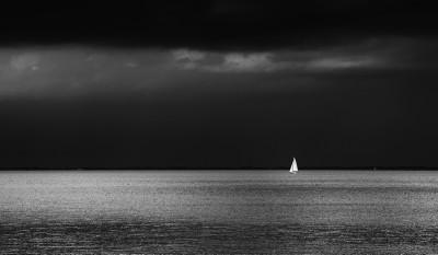Yacht on the Oosterschelde