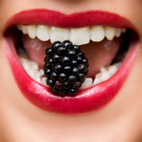Blackberry in Mouth