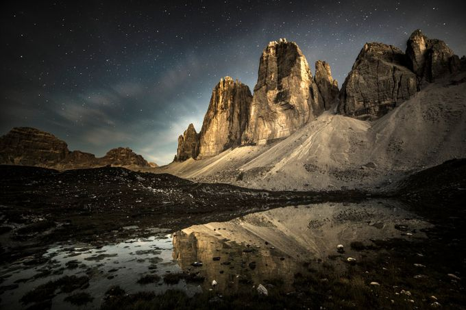 The Tre Cime by night by jamesrushforth