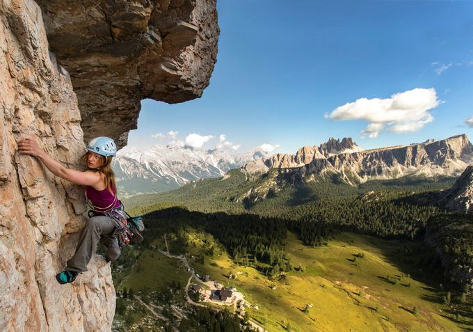 Climbing at Cinque Torri by jamesrushforth - Pushing Limits Photo Contest