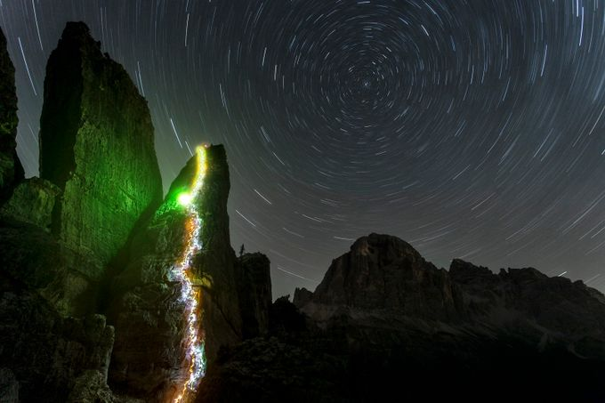 A night time ascent at Cinque Torri. by jamesrushforth