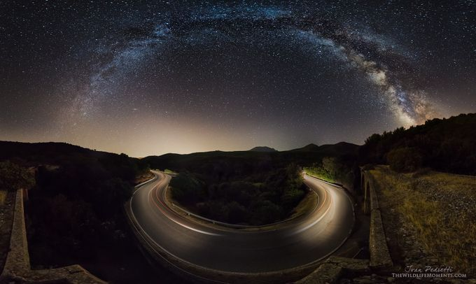 starry road by wildlifemoments - Composing with Curves Photo Contest