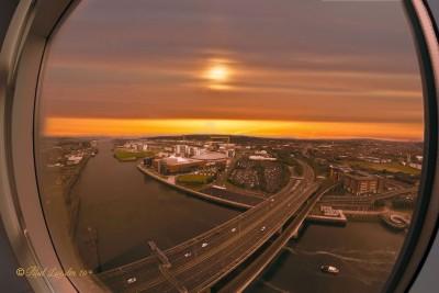 Sunrise over Belfast