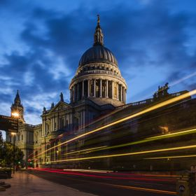 Shot taken with long exposure at the St Paul's Cathedral.