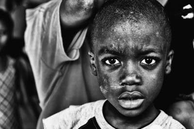 Haiti Eyes in B&W