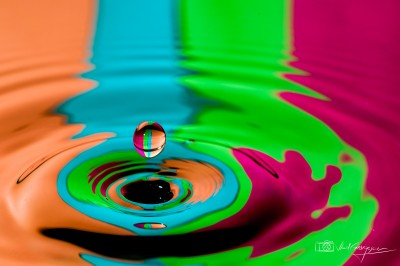 Colorful waterdrop
