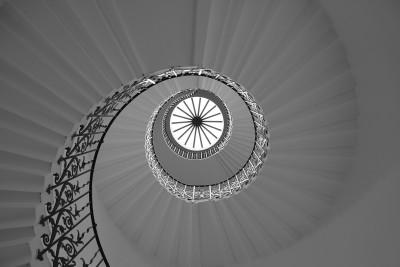 Tulip Staircase in Black & White