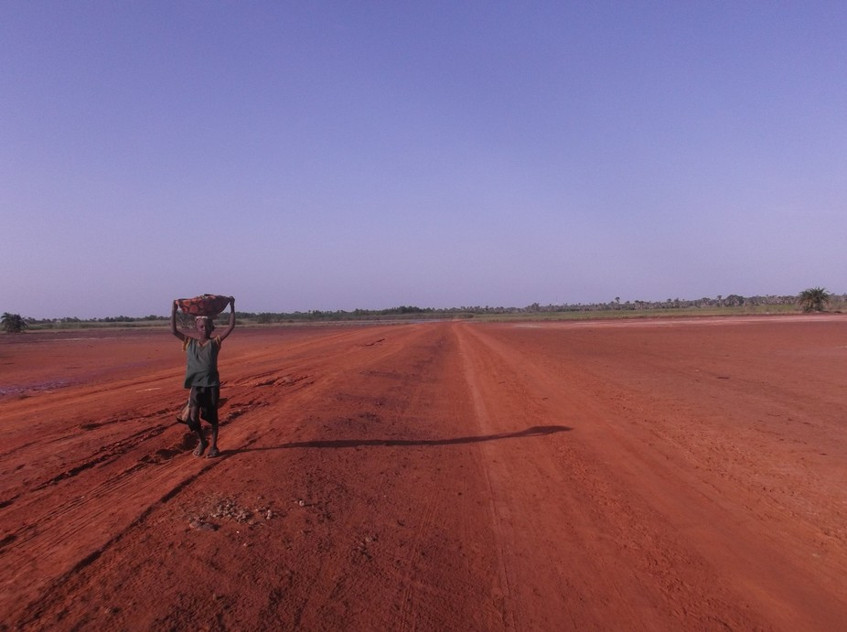 This photo was taken while I was biking to Konteh, a small village in The Gambia, West Africa.