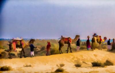 Manvar camels and humans -15