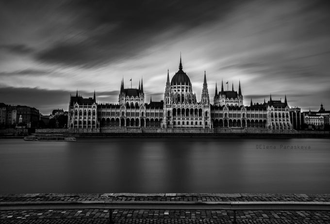 The Hungarian Parliament by ElenaParaskeva - Awesomeness In Black And White Photo Contest