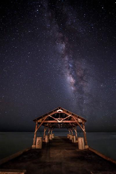Waimea Pier Milky Way