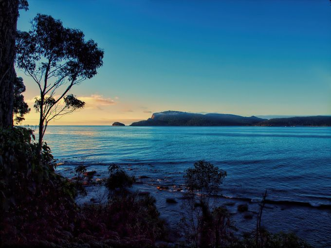 Early Morning Adventure Bay, Bruny Island, Tasmania.