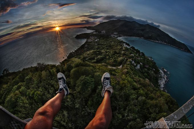 Sunset from the edge by awesomeTRAVELness - Standing At The Edge Photo Contest