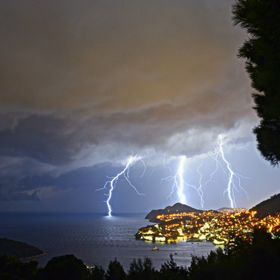 Returning to our hotel in Dubrovnik after a trip to the beach, we were surprised by a summer storm. As soon as I saw the first lightning illumina...