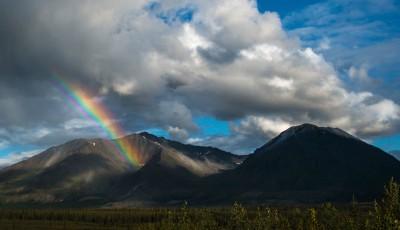 Alaska Mountain Rainbow