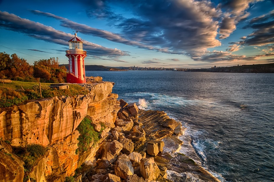 The Hornby Lighthouse at the south entrance to Sydney Harbour, Australia