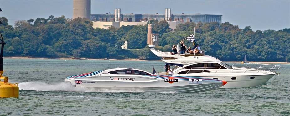 FIRST PLACE, COWES TO TORQUAY POWERBOAT RACE AUGUST 2014